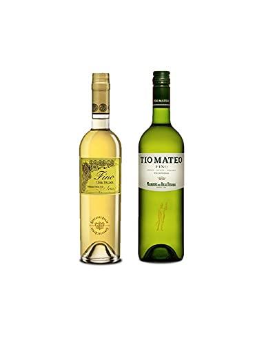 Vino Fino Una Palma de 50 cl y Vino Fino Tío Mateo de 75 cl - Mezclanza Exclusiva