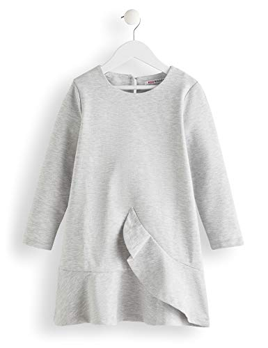 Amazon-Marke: RED WAGON Mädchen Kleid Ruffle, Grau (Grey), 104, Label:4 Years