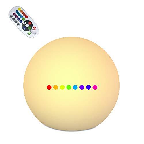 ランプ 間接照明 改良型Teslong® ボールライト リモコンランプ USB無線ランプ 16色の変換ランプ IP68防水ライト ムードライト シェードライト フロアライト 卓上ライト ボールライト 災害緊急ライト 常夜灯 北欧風おしゃれLED対応 寝室照明 インテアLED電球 USB充電 バレンタインギフト、クリスマスパーティ、バレンタイン クリスマスパーティー 母の日 父の日 クリスマス LEDバーライト 等,プレゼントに最適です。 (20cm)