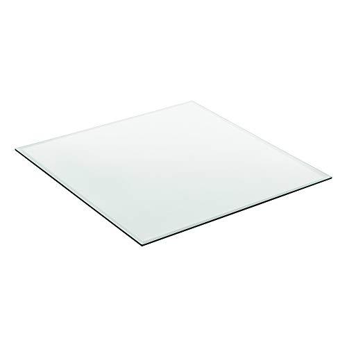 [neu.haus] Glasplatte 70x70cm Eckig Glasscheibe Tischplatte ESG Glas Kaminplatte Kaminglas DIY Tisch