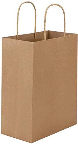 紙袋 手提げ クラフト ショッピングバッグ 無地 ひも 手提げ袋 ギフトバッグ (クラフト, 26*12*33cm)