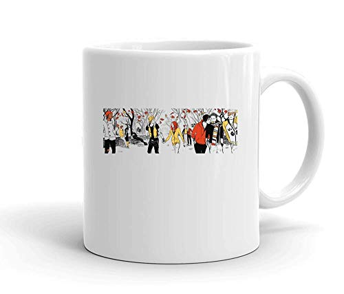 IDcommerce Characters in Autumn Tasse en Céramique Blanche pour Le Thé Et Le Café
