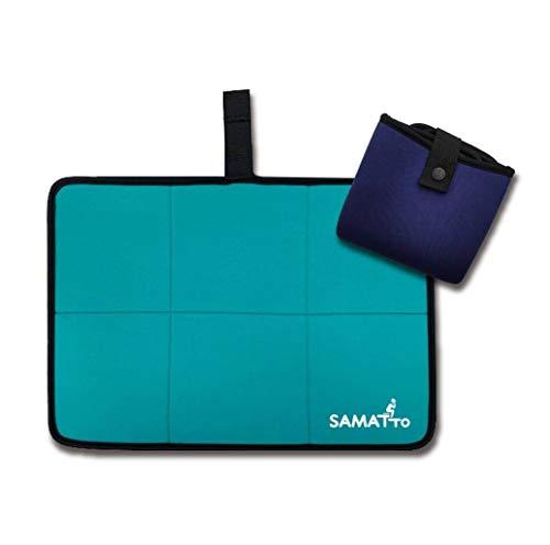 SAUNOI 折り畳み サウナマット SAMATTO(サマット) エメラルド×ネイビー