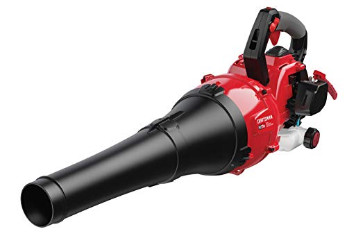 Craftsman B225 650 CFM 135 MPH 27cc, 2-Cycle Full-Crank Engine Mixed-Flow Gas Powered Leaf Blower, Liberty Red