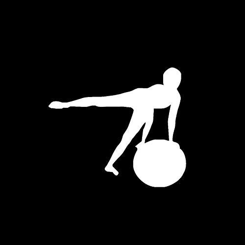 SHMAZ 11,5 * 10 Ejercicio aeróbico Yoga meditación decoración Coche Pegatina Vinilo Accesorios Motocicleta calcomanías gráfico