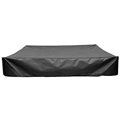 REALTH 180x180cm Sandbox-Abdeckung mit Kordelzug, wasserdichter Sandbox-Baldachin von Oxford, quadratische Sandbox-Abdeckung aus Stoff, Poolschutz