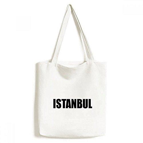 DIYthinker Estambul, Turquía Nombre de la Ciudad ambientalmente Bolsa de Mano Bolso de Las Compras Craft Lavable