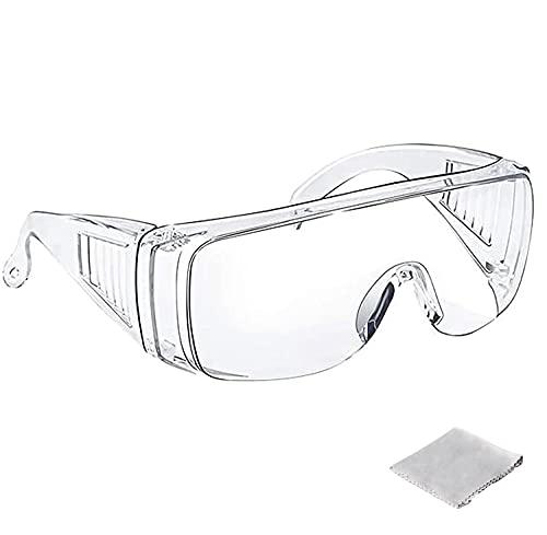 Tavool ゴーグル 保護メガネ 曇り止め 透明 軽量 防曇 保護 安全ゴーグル 花粉めがね 防塵ゴーグル メガネ 眼鏡着用可 クリーニングクロス付き