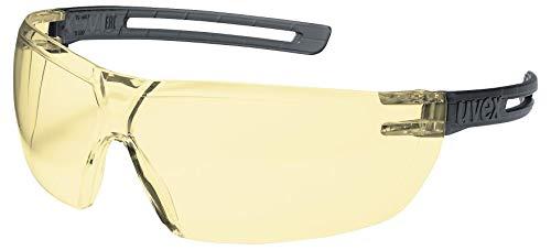 uvex x-fit Schutzbrille 9199 - Kratzfest & Beschlagfrei, 100{de97836382e640aa54a3f29fbb64905bee42e8dbbaecac7b063cfac96bb40192} UV-400-Schutz - Sicherheitsbrille mit Bernsteinfarbener Scheibe - Chemikalienbeständige Arbeitsbrille für Labore