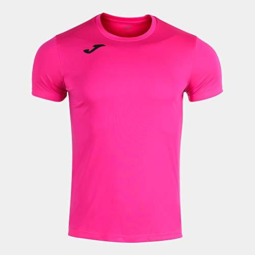 Joma Camiseta Manga Corta Record II Rosa flúor, XXL