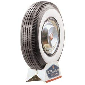 Bfgoodrich 43925 Neumático 7.60/ -15 98P, Whitewall Con Banda Blanca, 86Mm para Turismo, Verano