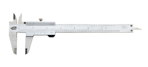Standard Gage 00524001 Stainless Steel Vernier Caliper, Satin Chrome Finish, 1.6' Jaw Length