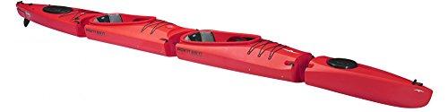 Zweierkajak Mercury Tandem von Point65 in Modulbauweise Kajak 2er Kajak **NEU**, Farbe:Rot;Ausstattung:Mit Skeg/Ruder und Air Sitz