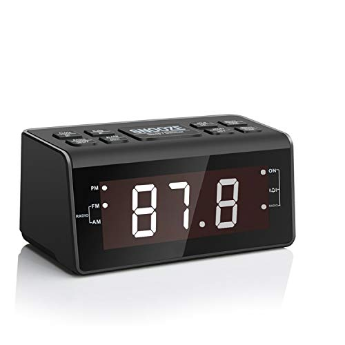 Alarm Clock Radio, Digital AM FM Clock Radio for Bedrooms or Livingroom