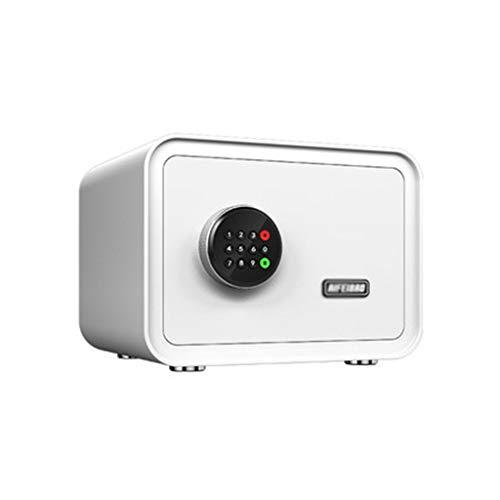 ZLQ Tresore Sicherheitssicherer, Digitaler Elektronischer Schranksafe Mit Tastatur-Schließfach für Bargelddokumente für Das Home Office Wand- Oder Bodenmontierte Schließfächer (Color : White)
