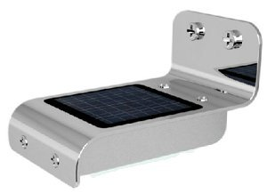 防犯、空き巣対策に最適 簡単取付 ソーラー充電式なので電気代ゼロ LED常夜灯 照度&人感センサー内蔵(屋外仕様)  ソーラーモーションライト