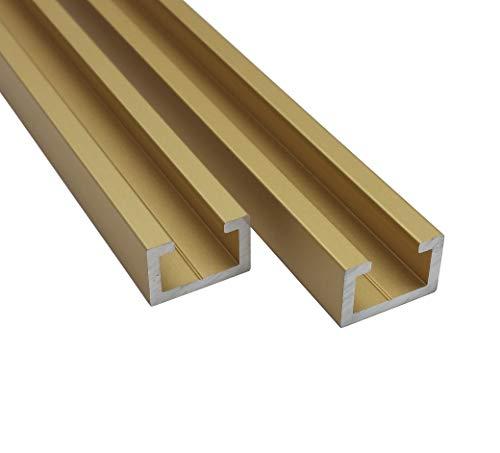 Aluminium CProfil M8 Alu C Profil Gold Edition 0,5m 1m 1,5m 2m T Nut Schiene (1m Länge)