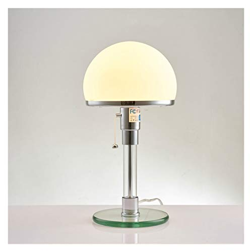 JSJJARF Lámpara de Mesa Lámpara de Mesa de Cristal Lustre Información Luces Led Dormitorio Mesita de luz de la lámpara se Dirige Deco lámpara de pie (Lampshade Color : White)