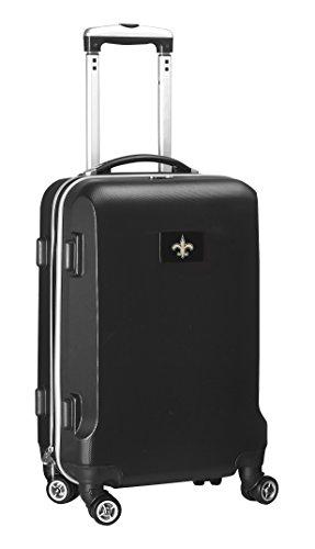 Denco NFL New Orleans Saints Carry-On Hardcase Luggage Spinner, Black