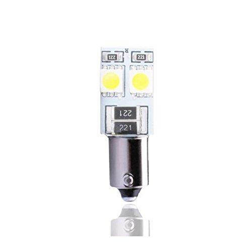 Planet Line PL314W Ampoules LED Ba9S 4LED Smd5050 12V, Blanc, Set de 2