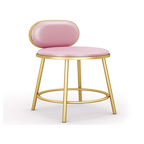 Tabourets Spéciaux De Magasin De Bijoux Nordiques,Chaise De Bar Doré (Color : Pink)