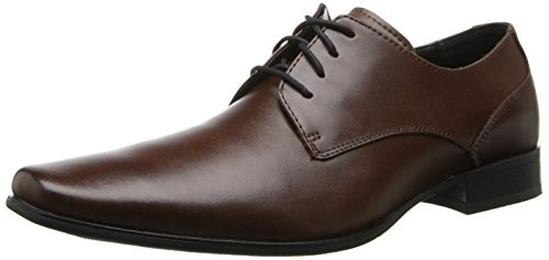 Calvin Klein Men's Brodie Oxford Shoe, Medium Brown Leather, 8 M US