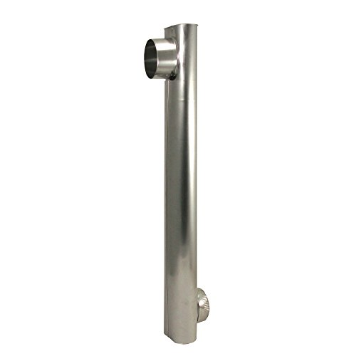 """Deflecto 4"""" Oval Duct, Adjustable from 27"""" to 48"""" (DAF2)"""