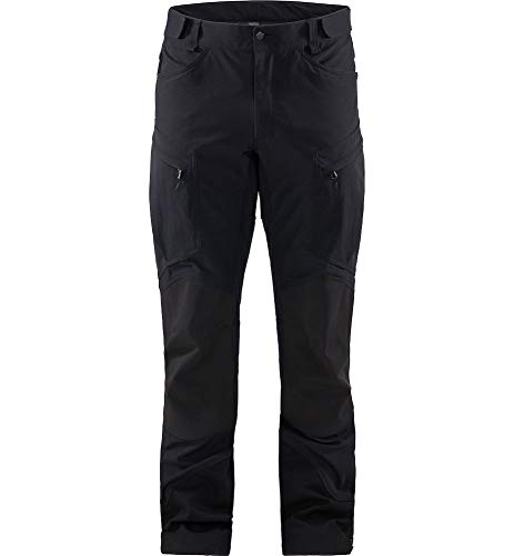 Haglöfs Rugged Mountain - Pantaloni da Uomo, Uomo, Pantaloni, HA604147, Nero (True Black Solid Lon), L