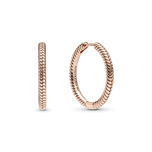 Pandora Moments - Pendientes de aleación de metal chapado en oro rosa de 14 quilates de Pandora Moments Collection