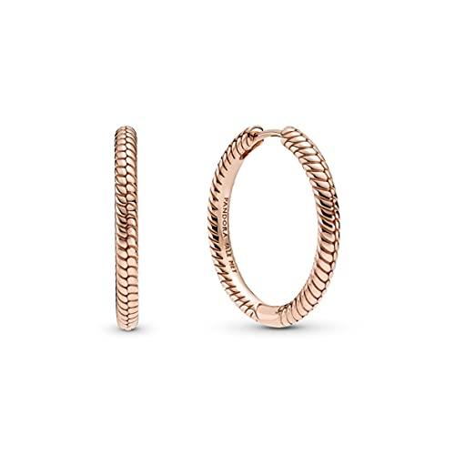 Pandora Moments 289532C00 - Pendientes de aleación de metal chapado en oro rosa de 14 quilates