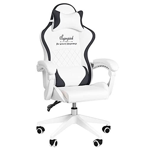 Sedia da gioco per adulti di grandi dimensioni, ergonomica per computer, resistente, grande e alta, poggiatesta e supporto lombare