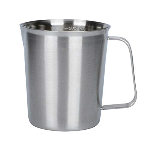 Steaming Pitchers  Measurement Stainless Steel Milk Frothing Pitcher Cup For CoffeeLatte ArtCappuccinoMilk Jug CupMeasuring CupTea CupMilk Froth⭐⭐⭐⭐⭐ 24 oz