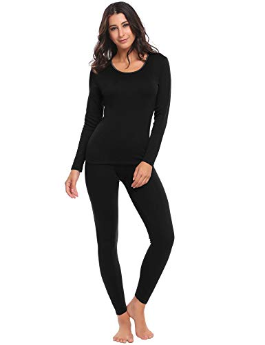 Ekouaer Women's Thermal Underwear Set Long Johns Set with Ultra Soft Top & Bottom Base Layer Thermals for Women
