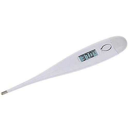 Grote digitale display Klinische Orale Thermometer - Snelle en Nauwkeurige Digitale Temperatuur Thermometer voor Volwassenen Babies Kinderen Ouderen Eenvoudig Te Gebruik Medische Klinische Thermometer met Snelle Lezing en Koorts