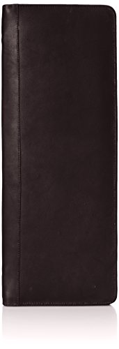 Piel Leather Zippered Tie Case with Snaps, Chocolate, One Size