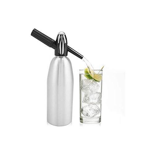 LKNJLL Manuel 1L Soda Siphon Distributeur d'eau Bubble Générateur Boisson fraîche Cocktail Soda Machine Bar Aluminium DIY Soda Maker
