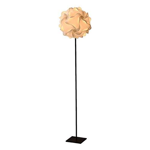 Elegante Lámpara de Pie Sombra de acero inoxidable moderna Lámpara de base blanca bola de la flor PP LED de la decoración interior del pie de iluminación for la sala de lectura del dormitorio Oficina