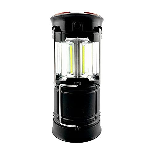 Linterna Portátil Al Aire Libre, Impermeable Led Camping Linterna Lámpara De Emergencia Recargable Negro