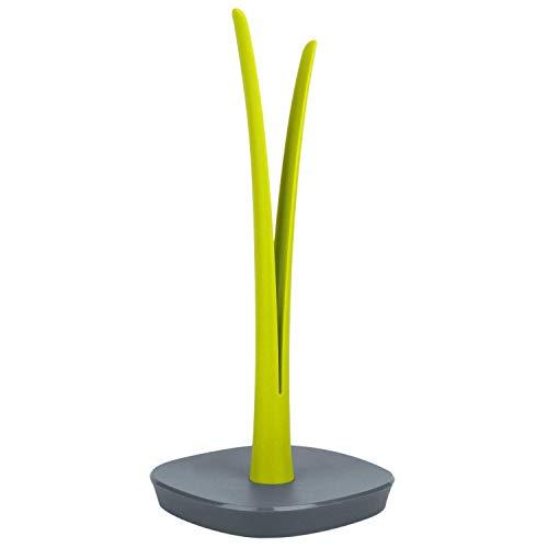 KOOK TIME Portarotolo cucina design Flogia, porta rotolo cucina o tavolo, porta scottex PVC/ABS, 16 x 16 x 34.5 cm