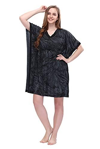 Style Dunes Women's Satin Kaftan - Maxi Nighty Night Gown...