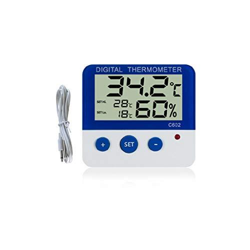 ZChun Digitale alarmthermometer, hygrometer, temperatuur-vochtigheidsmonitor