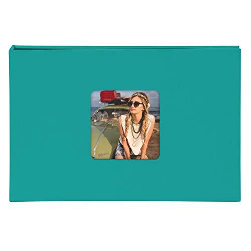 Goldbuch 17 799 - Foto Einsteckalbum Living Emerald Turquoise, Fotoalbum für 40 Fotos im Format 10 x 15 cm, Memoalbum mit Bildausschnitt, Fotobuch mit Einband in Leinenoptik, Album zum Einstecken