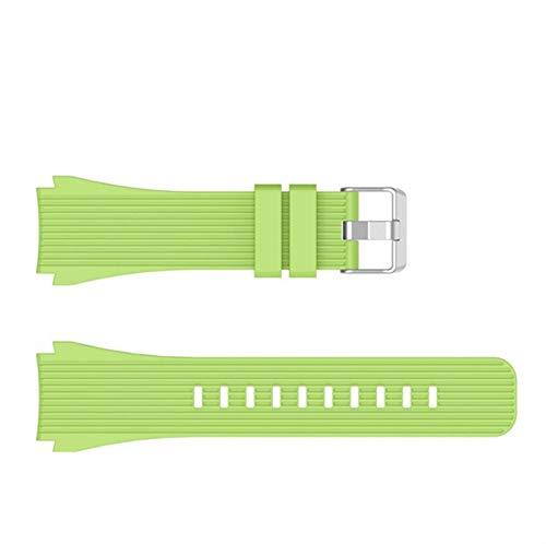 Sport Soft Silicone Pulsera de pulsera para Samsung Galaxy Watch 46mm Reemplazo de reemplazo Smart Watch Strap Strap Wristband Wamkband 10688 (Band Color : Green, Band Width : For Galaxy Watch46mm)