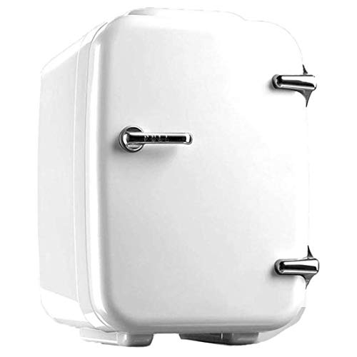 GJNWRQCY Nevera portátil de 4 L de bajo ruido, doble voltaje, 12 V-220 V, bolsa térmica para viaje, camping [Clase energética A ++], blanca