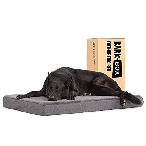 Barkbox Memory Foam Platform Dog Bed | Plush Mattress for Orthopedic Joint Relief (X-Large, Grey)
