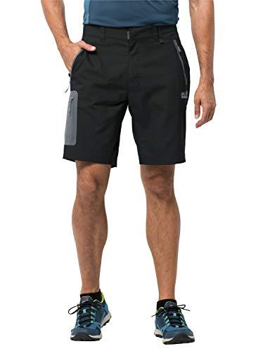 Jack Wolfskin Herren Active Track Shorts, Black, 54