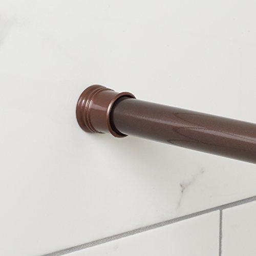 Zenna Home Tension Shower Rod, 44-72 Inches, Bronze