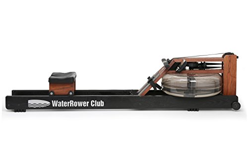 Waterrower Club Rudergerät, gebeizt, schwarz/rosa, 209 x 57 x 51 cm