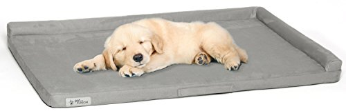 PetFusion Puppychoice Dog Crate Pad [Microsuede Cover, Solid Foam]. Water Resistant Cover/Liner & Removable Washable Cover. Replacement Covers & Blankets Also Avail. 1 Yr Warranty