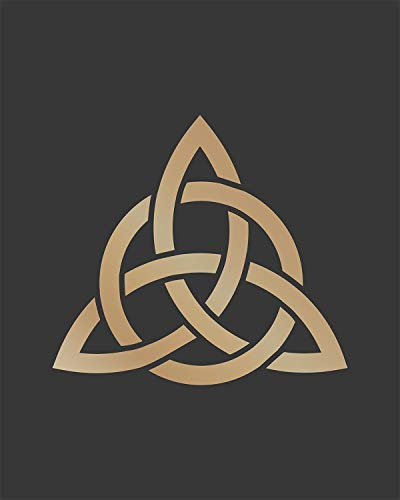Celtic Trinity Knot - Wall Decor Art Print on a dark gray background - 8x10 unframed Celtic-themed print - great gift for people of Celtic descent or those interested in the culture
